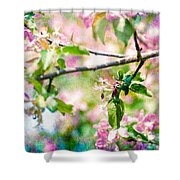 Feast Of Life 22 - Apple - The Beginning Shower Curtain