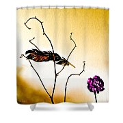 Feather And Carnation Shower Curtain