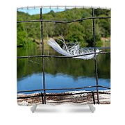 Feather And Fence Shower Curtain