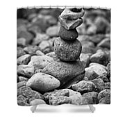 Feather And Stones Shower Curtain