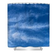 Feather Clouds On Blue Sky Shower Curtain