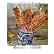 Feather Duster Bouquet Shower Curtain