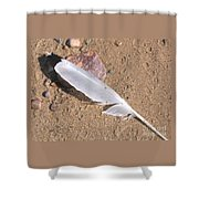 Feather On Damp Sand Shower Curtain