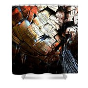 Feathered Abstract 2 Shower Curtain