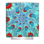 Feathered Coil Shower Curtain
