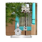 Feathered Friends Welcome Shower Curtain