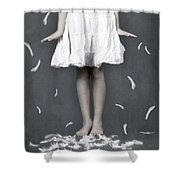 Feathers Shower Curtain by Joana Kruse