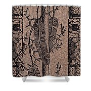 Feathers Thorns And Broken Arrow Bookmark No1 Shower Curtain