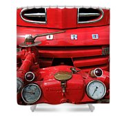 Featured Old Ford  Front On Fire Engine Denmark  Shower Curtain