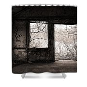February - Comfortable Seclusion - Self Portrait Shower Curtain