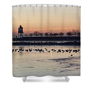 February Navy Pier Chicago Illinois Shower Curtain