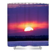 February Sunset Shower Curtain
