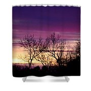 February's Dramatic Sunrise Shower Curtain