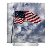 Federal Hill Flag Shower Curtain by Brian Wallace