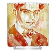 Federico Garcia Lorca Portrait Shower Curtain