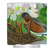 Feed Me Momma Shower Curtain