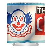 Feed The Clown Shower Curtain