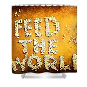 Feed The World Shower Curtain