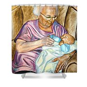 Feeding Baby 1 Shower Curtain