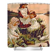 Feeding Ducks Shower Curtain