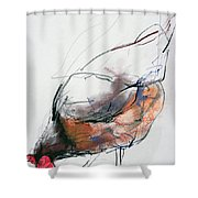 Feeding Hen, Trasierra Shower Curtain