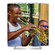 Feel It - New Orleans Jazz  Shower Curtain