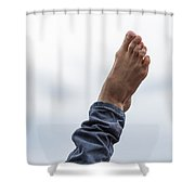 Feel  The Skies Under Your Foot - Featured 2 Shower Curtain