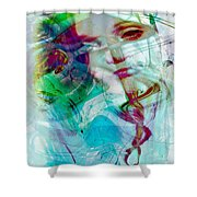 Feeling Abstract Shower Curtain