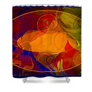 Feeling At Home With Uncertainty Abstract Healing Art Shower Curtain