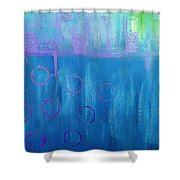 Feeling Blue Abstract Shower Curtain
