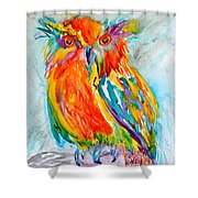 Feeling Owlright Shower Curtain