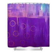 Feeling Purple Abstract Shower Curtain
