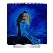 Feeling Safe In Your Arms Shower Curtain