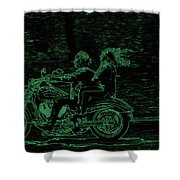 Feeling The Ride Shower Curtain