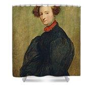 Felicie De Fauveau, 1829 Oil On Panel Shower Curtain