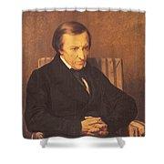 Felicite Robert De Lamennais, 1845 Oil On Canvas Shower Curtain