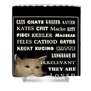 Felines   - Poster  Shower Curtain