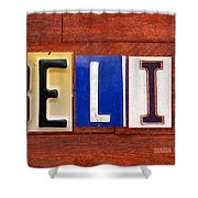 Felix License Plate Name Sign Fun Kid Room Decor Shower Curtain