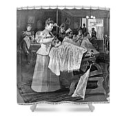 Female Barber-shop, 1895 Shower Curtain