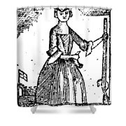 Female Continental Soldier Shower Curtain