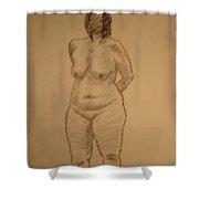 Female Croquis Shower Curtain