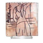Female Enamel On Copper Shower Curtain