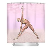 Female Musculature Performing Triangle Shower Curtain