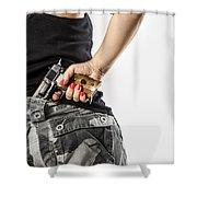 Feminin Agent Shower Curtain