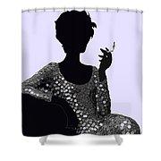Femme Fatale C1960 Shaken Not Stirred Shower Curtain