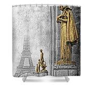 femmes de Paris Shower Curtain
