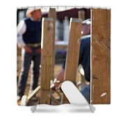 Fence And Cowboy 17525 Shower Curtain