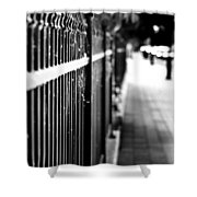 Fence At Eight  Shower Curtain
