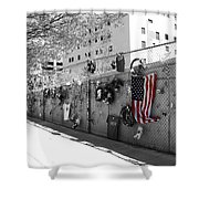 Fence At The Oklahoma City Bombing Memorial Shower Curtain