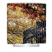 Fence At Woodlawn Cemetery Shower Curtain